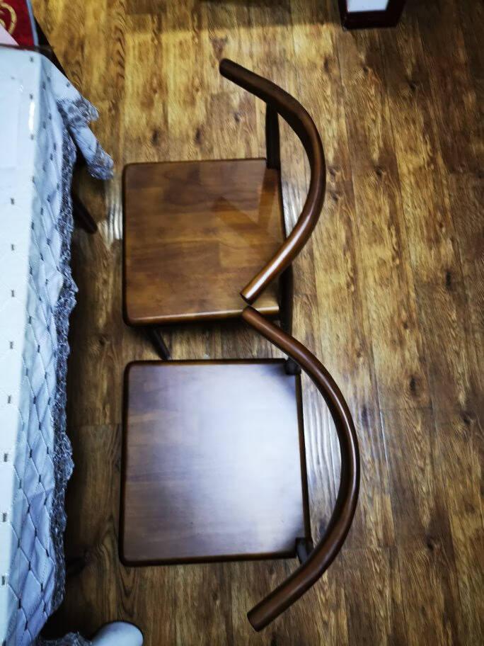 实木餐椅家用简约餐桌椅子靠背现代会议办公桌椅北欧休闲牛角椅牛角椅原木色(黑皮)不含送货上门和安装