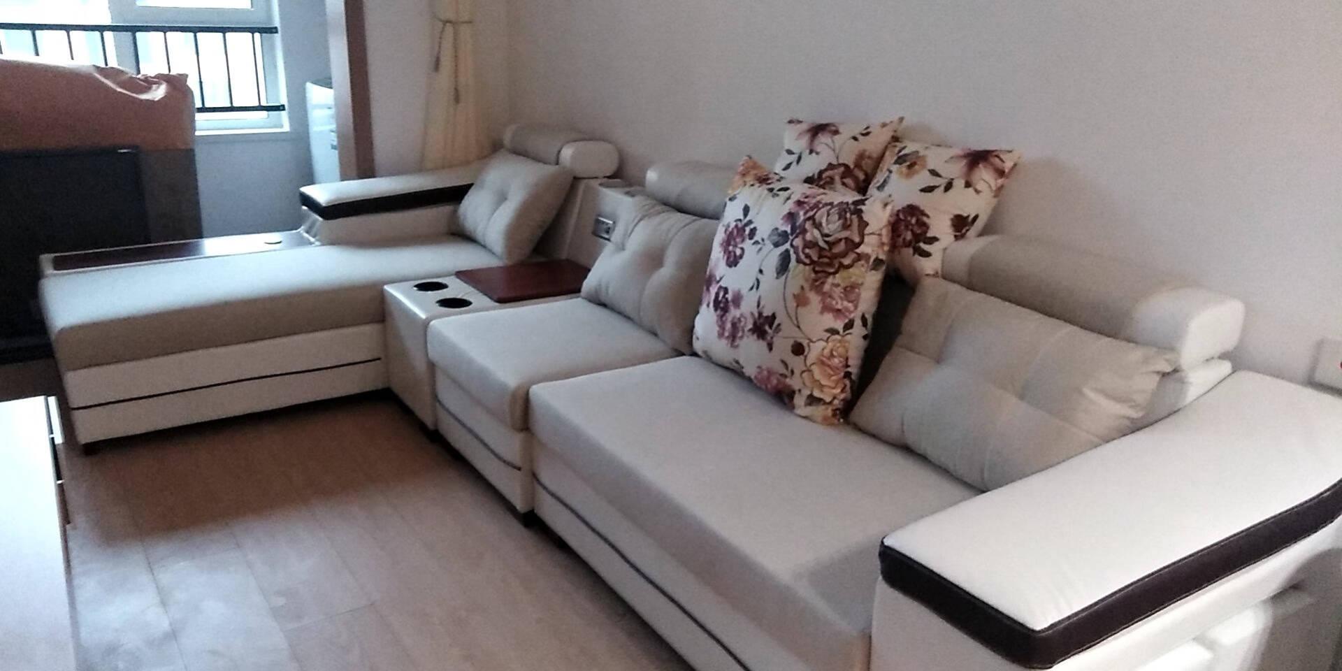 【国庆节钜惠】太和上品沙发布艺沙发可拆洗简约大小户型客厅转角科技布沙发现代整装实木框架家具直排三人位【配4个布凳】【颜色备注】标准版【桉木框架+海绵版】