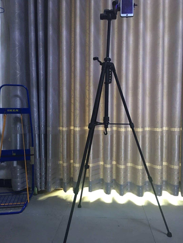 伟峰WEIFENGWT-3540数码相机/微单/单反脚架铝合金轻便三脚架摄影摄像手机自拍直播户外投影仪支架