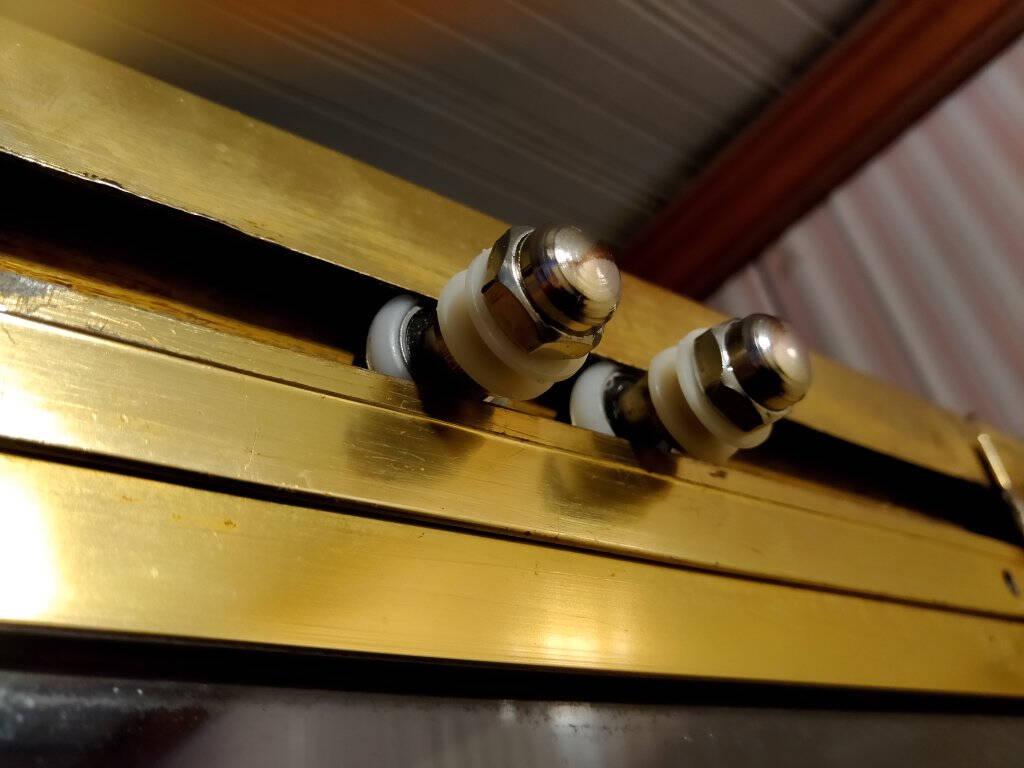妙天成淋浴房滑轮老式圆弧浴室玻璃移门滑轮单轮吊轮大轴承偏心轮配件25mm黑心大轴承