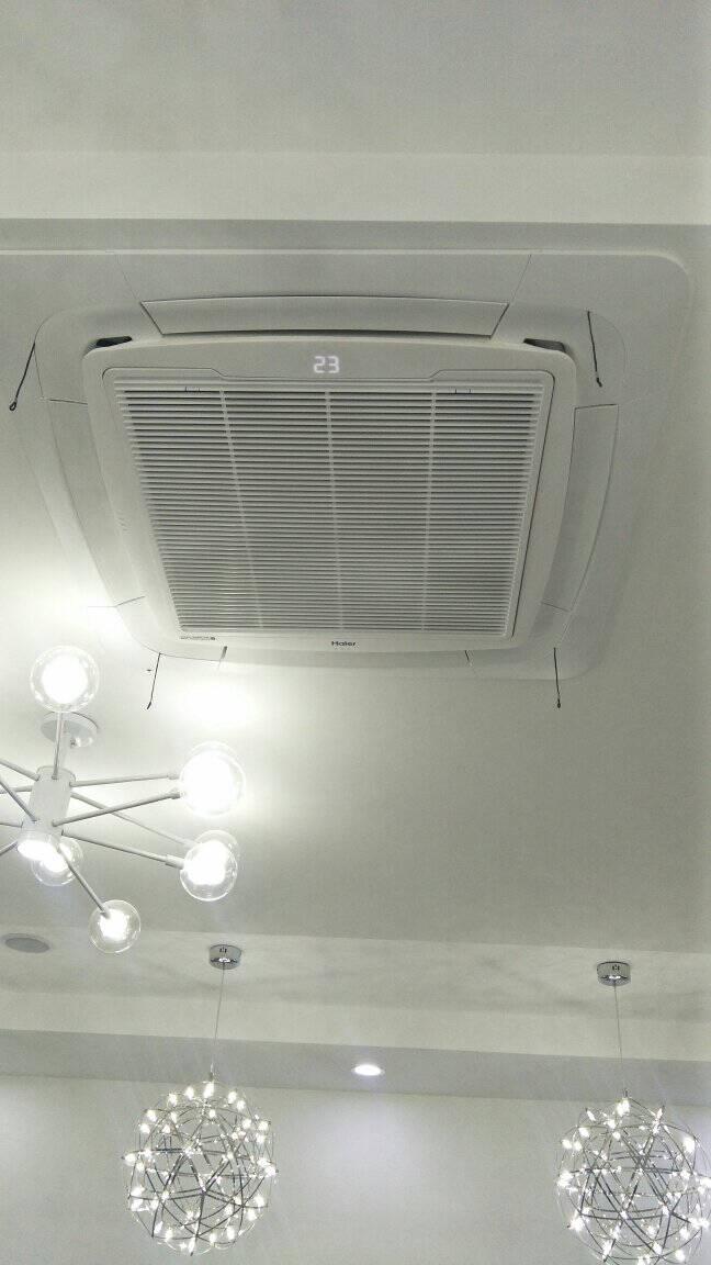 海尔Haier天花机一拖二10匹厂房商铺商用空调中央空调嵌入式天花机直流变频三菱压机RFC260DXSAYA(G)裸机