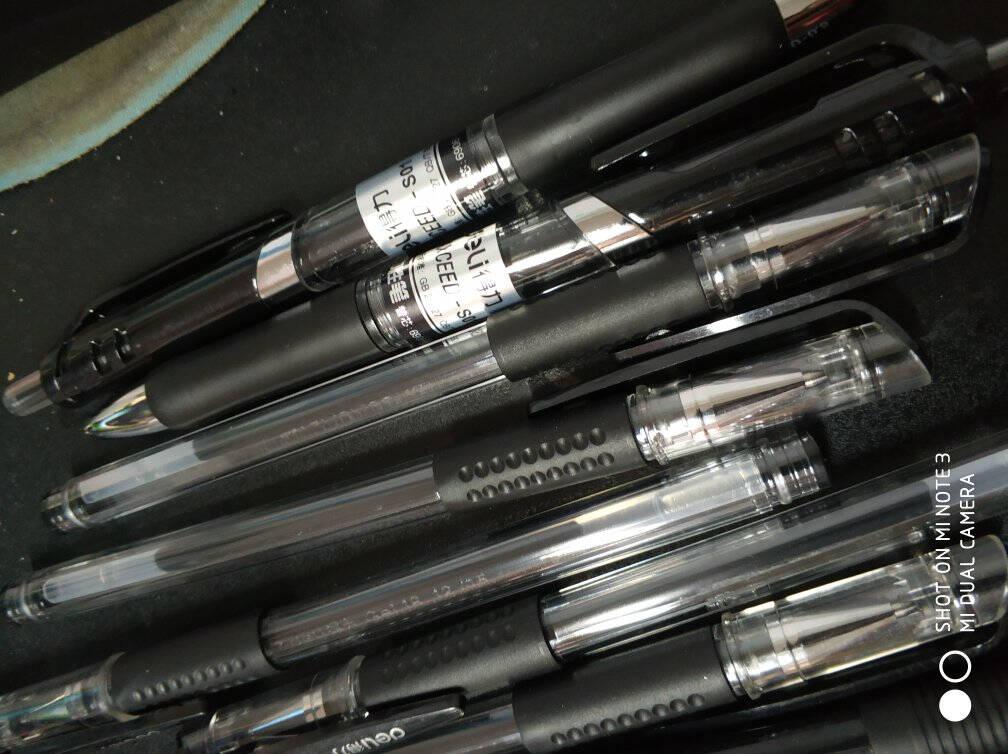 齐心(Comix)防滑握手按动圆珠笔/中油笔/原子笔0.7mm60支装工具蓝色BP102R
