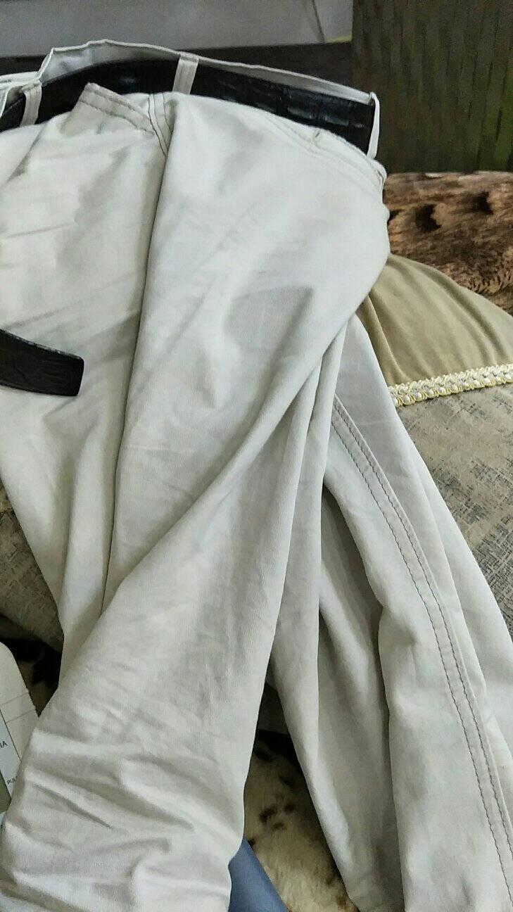 (2条99元)布衣门春夏薄款休闲裤中老年高腰宽松免烫商务长裤男装直筒男裤米灰色+卡其色【夏季薄款】32码=2尺5腰围