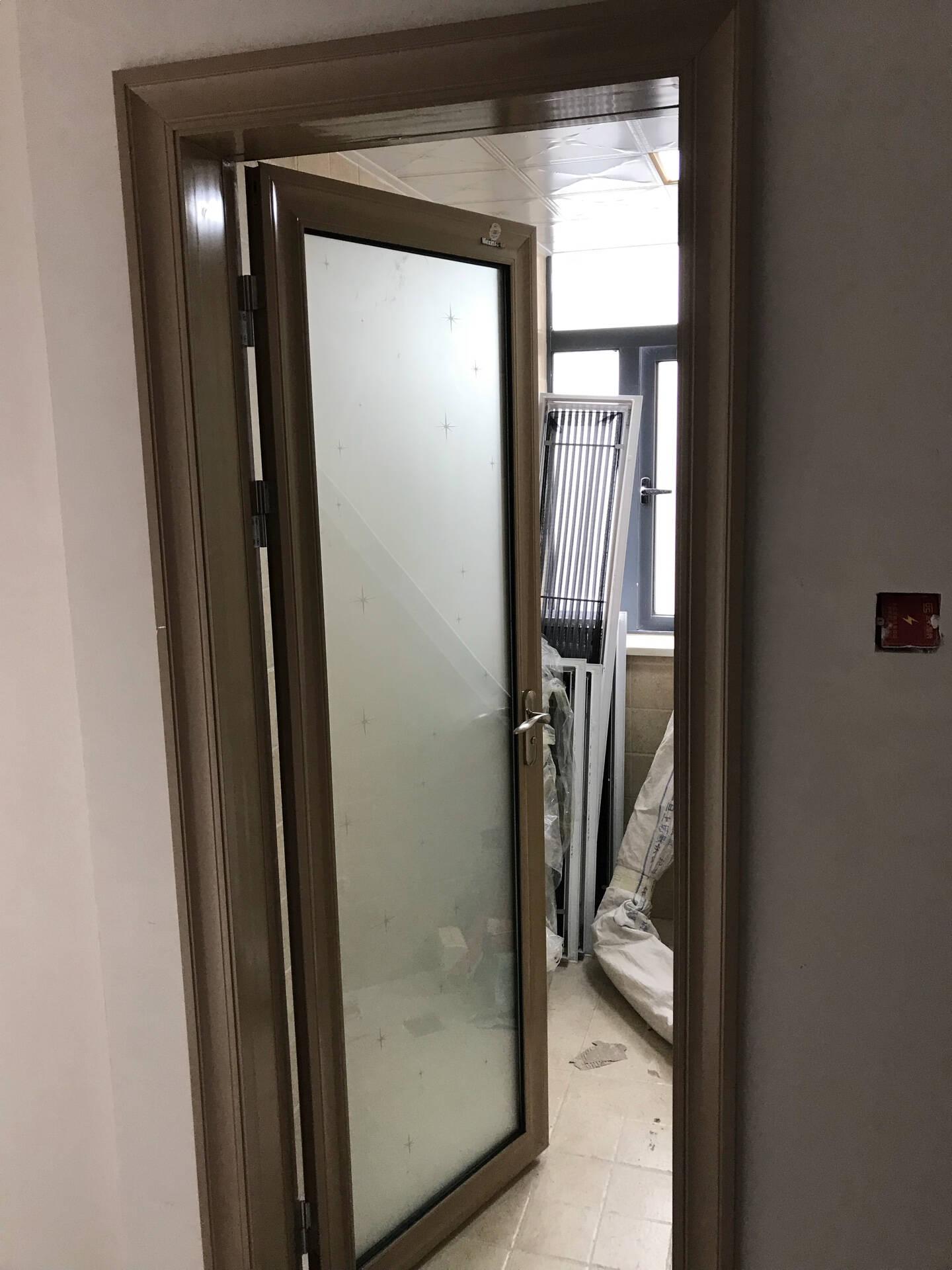 美心偙朗木门厨卫门钛镁合金门防潮抗变双层钢化玻璃门卫生间厨房门8917双包