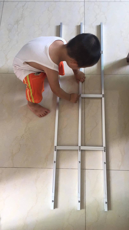免打孔防盗窗网高层阳台室内置飘窗隐形儿童安全防坠落护栏可拆卸银色窗洞高度119-134(1支)