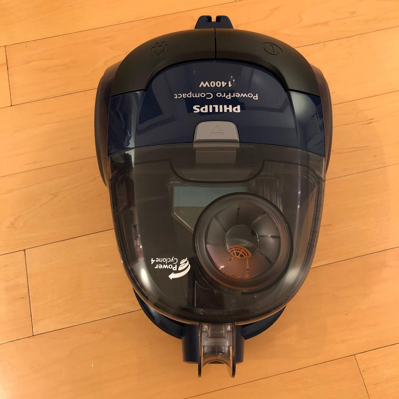 飞利浦(PHILIPS)XB2023/81卧式吸尘器无尘袋家用强劲吸力大功率
