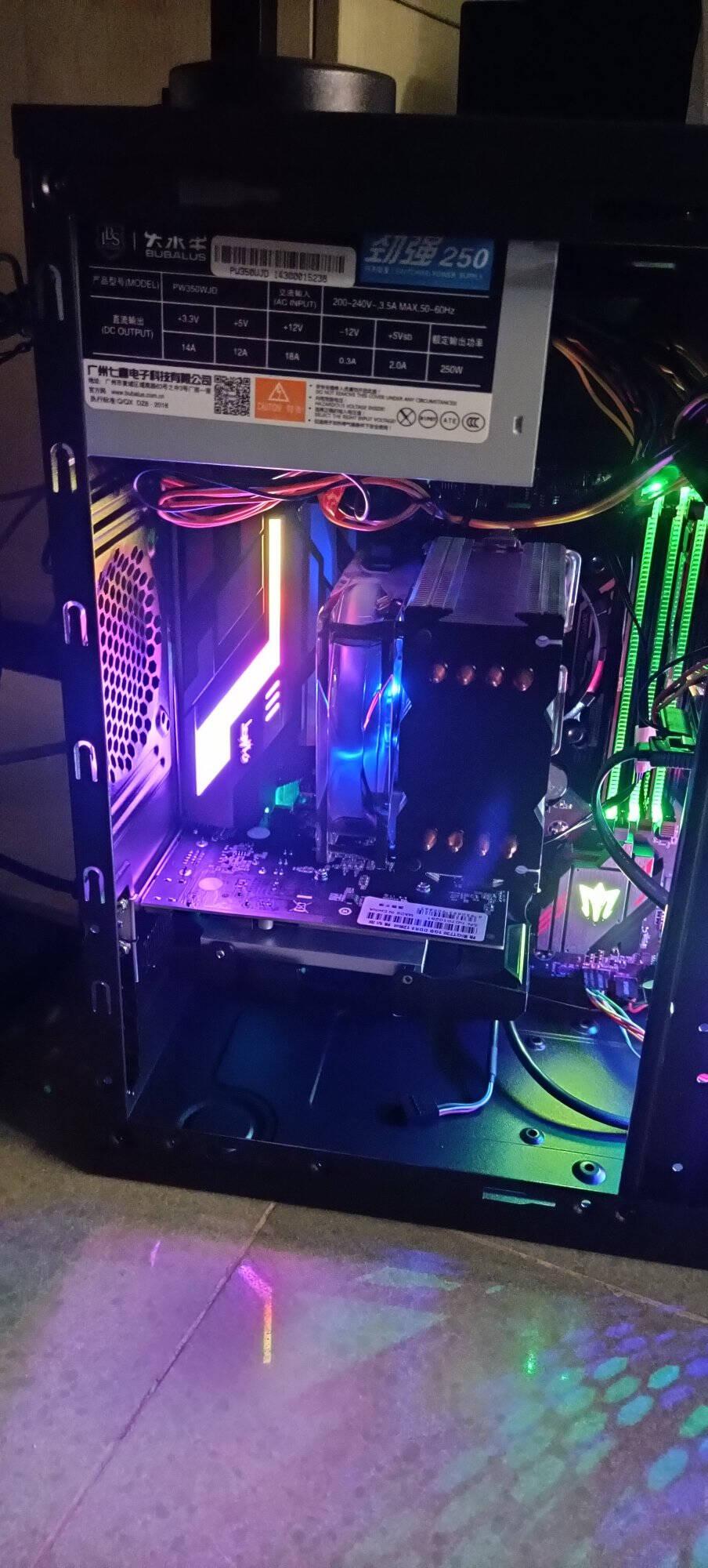 大水牛(BUBALUS)额定200W劲强200台式电脑电源(智能温控风扇/三年质保/低待机功耗/支持背线)