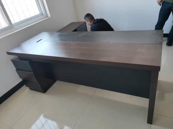 创圣老板桌办公桌简约现代办公家具板式大班台班桌主管桌经理桌总裁桌办公室新中式桌椅组合套装1.8米老板桌(四色可选)