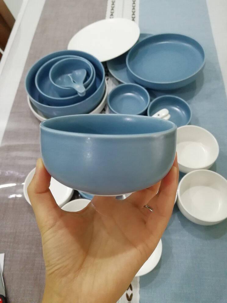 碗碟套装陶瓷餐具套装家用北欧简约吃饭碗面碗汤碗碗盘筷套装2/4/6人9件套【2人使用】
