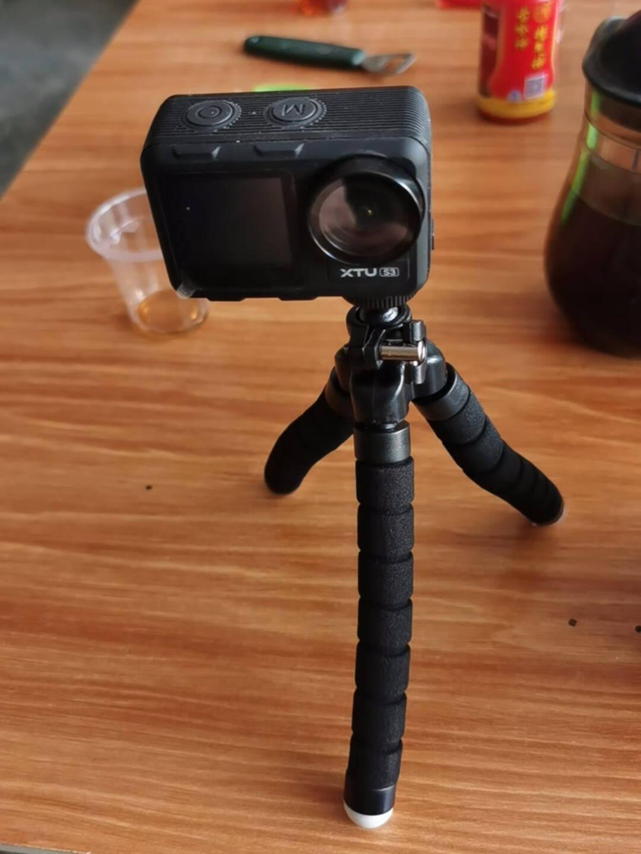 XTU骁途S3运动相机4K超强防抖双彩屏ai美颜超清裸机潜防水vlog摄像机摩托车行车记录仪豪华版+64G卡S3黑色