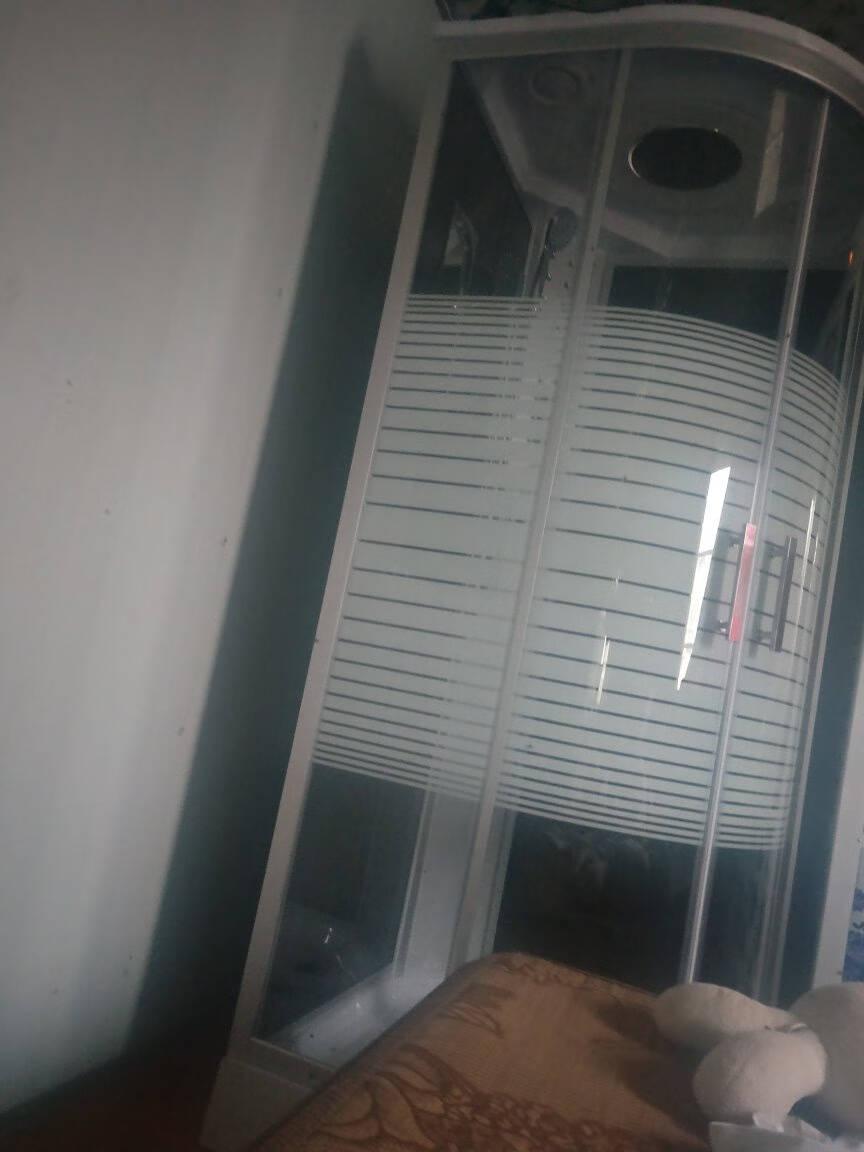 整体淋浴房带冲浪蒸汽洗澡间一体式浴室桑拿房泡澡带浴缸钢化玻璃160*90白色不含蒸汽
