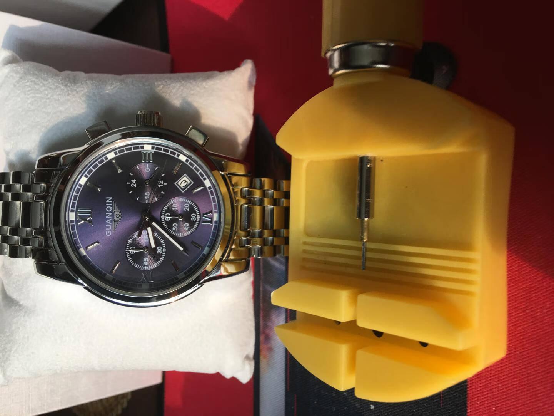 瑞士冠琴(GUANQIN)手表男士防水夜光全自动机械表运动时尚男款腕表多功能精钢带手表男钟表精钢黑面--【16031豪华机械人气!好评过万!】其他