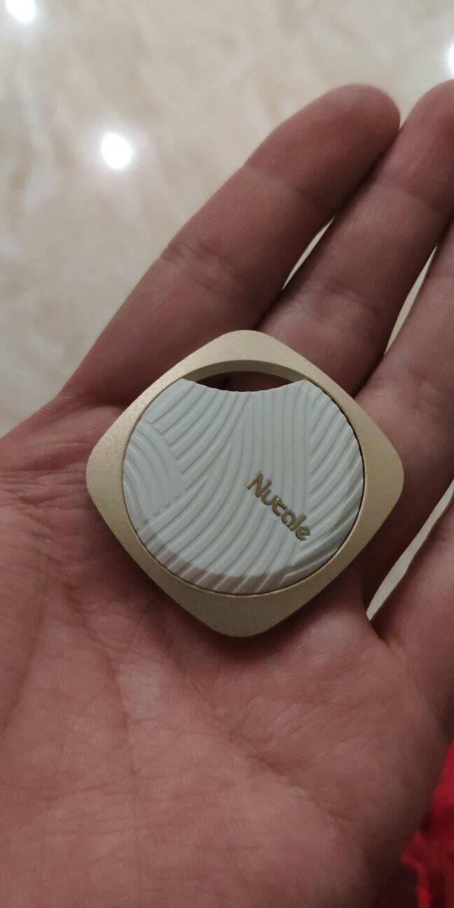 纳特(nut)focus金属高档钥匙防丢神器防丢钥匙扣找东西手机蓝牙防丢器智能提醒双向报警器两片装(金色+黑色)