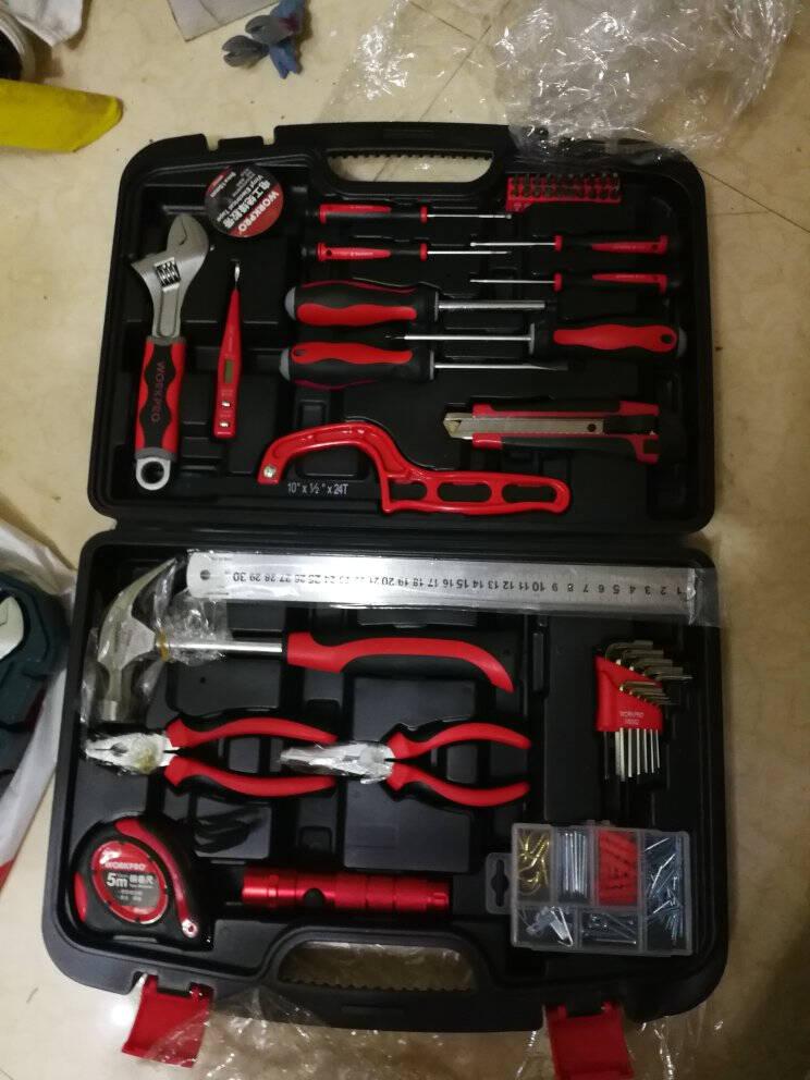 万克宝(WORKPRO)W1150多功能实用家用工具箱套装50件套工具套装电工木工维修五金手动工具组套工具盒