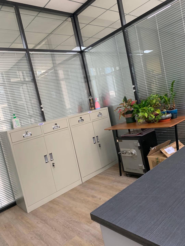 中伟矮柜钢制储物柜铁皮柜文件柜财务办公柜资料柜档案柜二斗