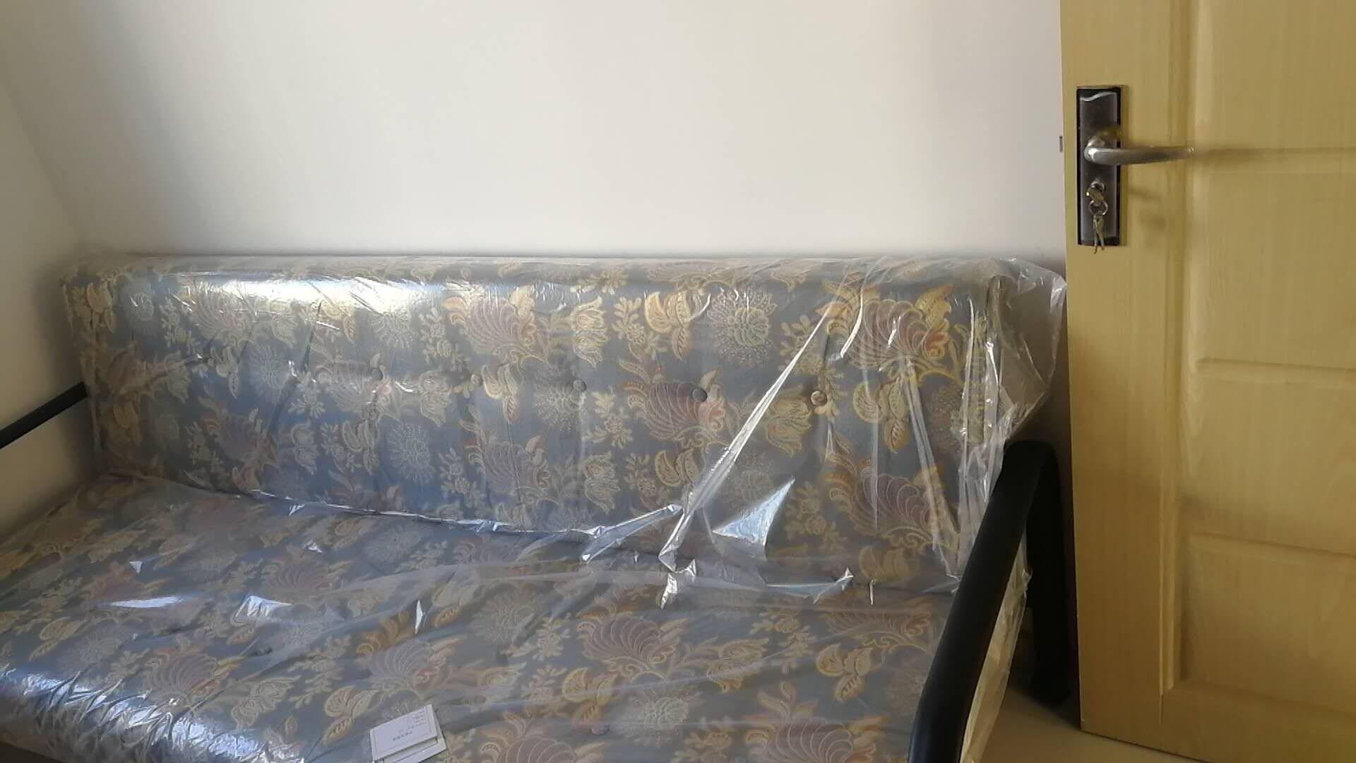 天坛家具沙发床两用可折叠布艺沙发现代简约单人沙发组合单人位长715mm宽780mm高800mm