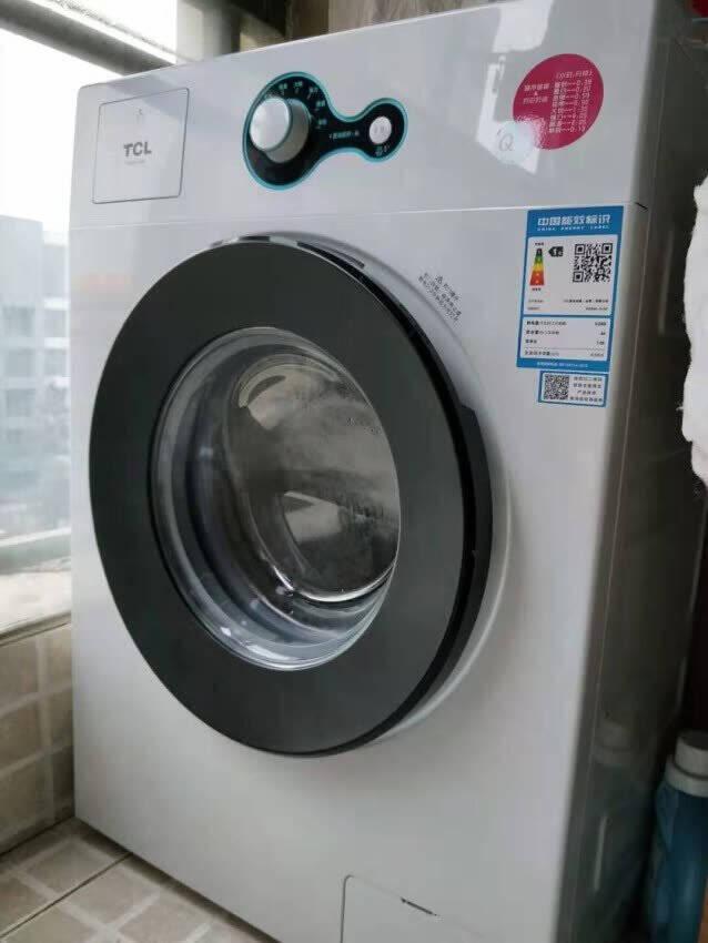 TCL6.5公斤全自动小型滚筒洗衣机家用超薄迷你公寓节能智能高温除菌TG-V65上排水芭蕾白
