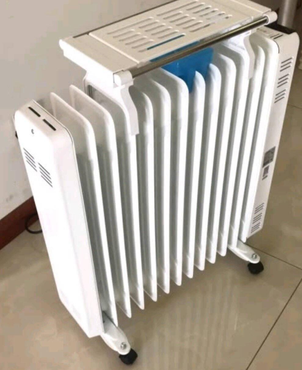 格力(GREE)取暖器/电暖器/电暖气片家用145MM宽片/节能省电静音加湿烘衣13片电热油汀NDY11-X6026a