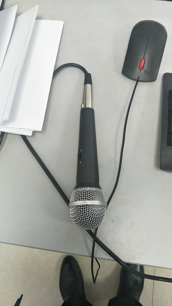 depusheng得普声C1有线麦克风家庭KTV演唱卡拉OK会议演讲家用专业高品质全金属动圈话筒C1有线话筒