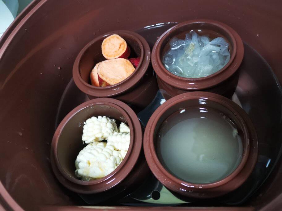 小熊(Bear)电炖锅电炖盅煲汤锅紫砂锅炖汤陶瓷5胆电砂锅隔水炖养生锅4.5LDDZ-B45Z1