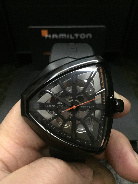汉米尔顿(HAMILTON)瑞士手表探险系列猫王80周年纪念版大金猫自动机械男士腕表汉米汉密尔顿H24525331
