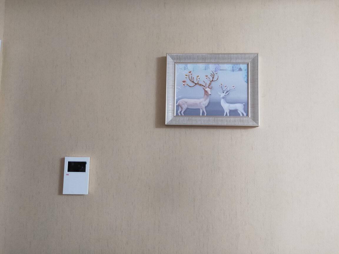 瑞尚(RUISHANG)遮挡电表箱装饰画配电箱可推拉壁画客厅挂画有框电源箱开关盒电闸金鹿鸿途A60*40可覆盖(横50竖30)铝合金框+晶瓷画