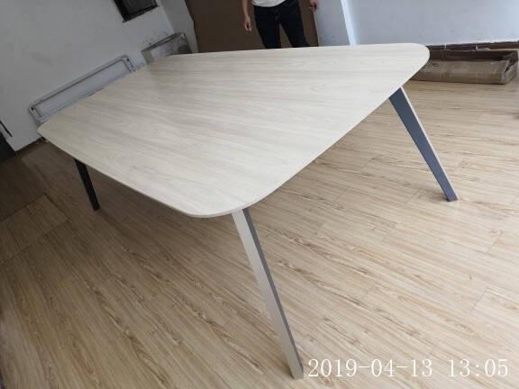 曲森(QUSEN)会议桌长桌简约现代小型接待洽谈培训桌4-6-8人会议桌椅组合定制(色卡颜色一块)