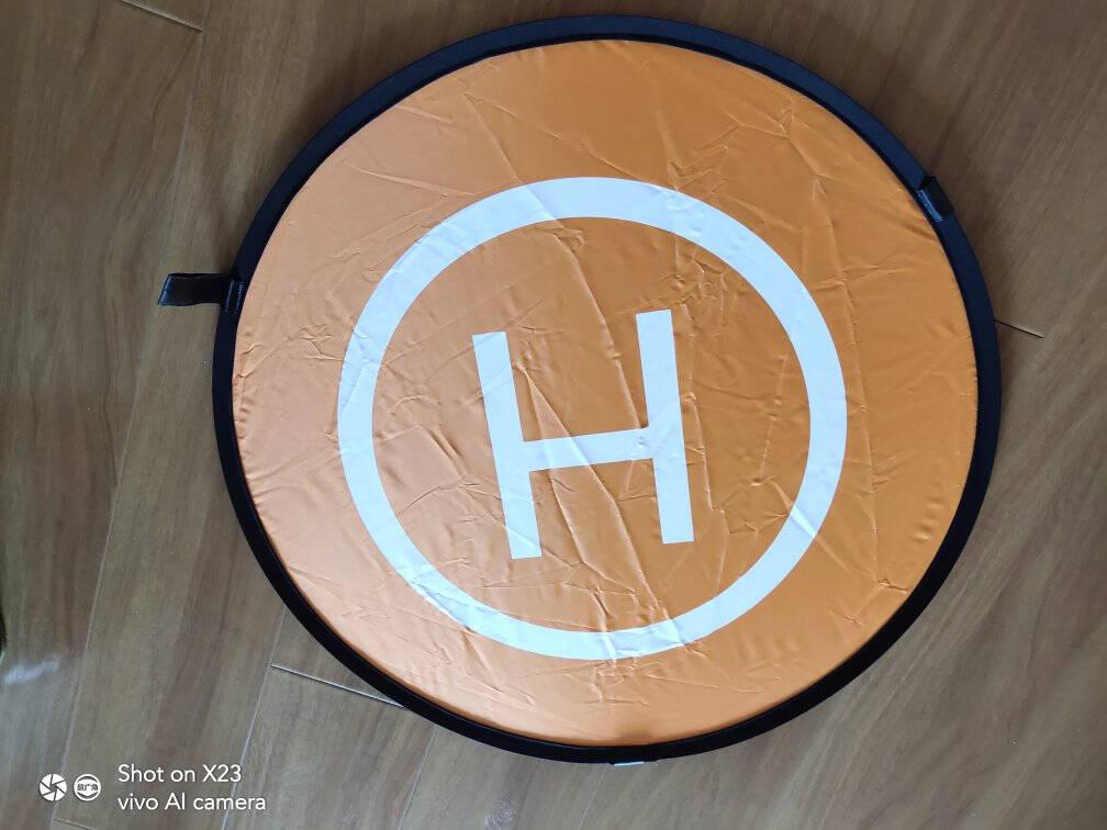 佰卓无人机停机坪通用款适用大疆mavicair配件坐标板停机垫可折叠降落起飞垫LED发光110cm标准款正反2面送3个灯