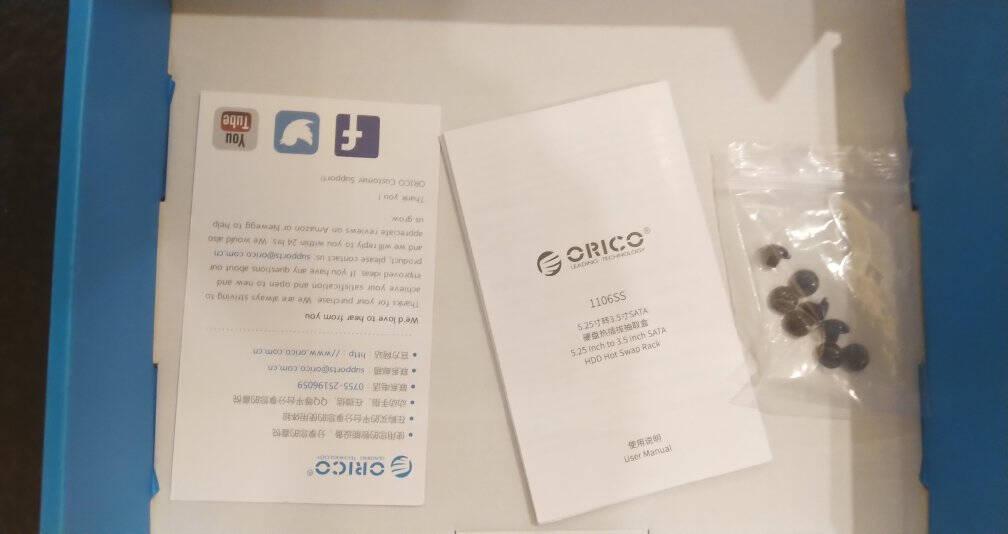奥睿科(ORICO)硬盘底座USB3.02.5/3.5英寸移动硬盘盒SATA串口笔记本台式机外置固态硬盘座黑色6518US3