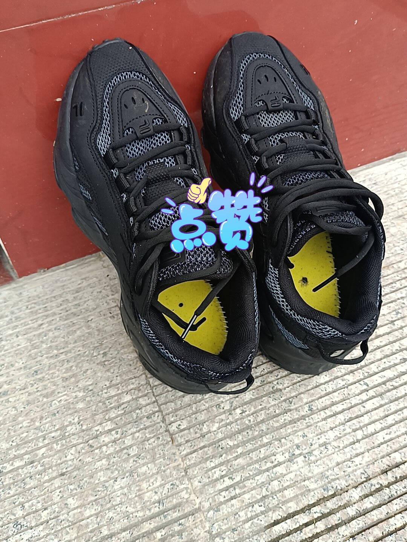 FILA斐乐男鞋ADE男子老爹鞋夏季网面透气休闲百搭运动鞋商场同款黑-BK41