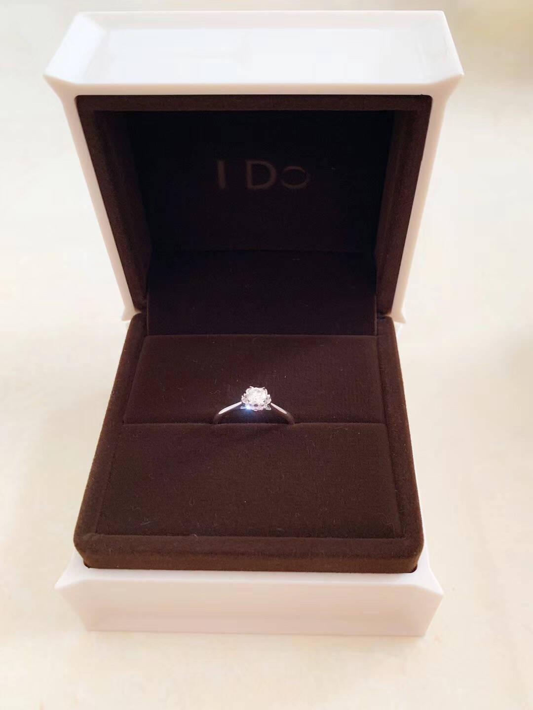 【现货】IDoDestiny系列18K金钻石戒指六爪花型设计时尚简约女士订婚求婚结婚钻戒ido13号/18K金/30分/SI/I-J
