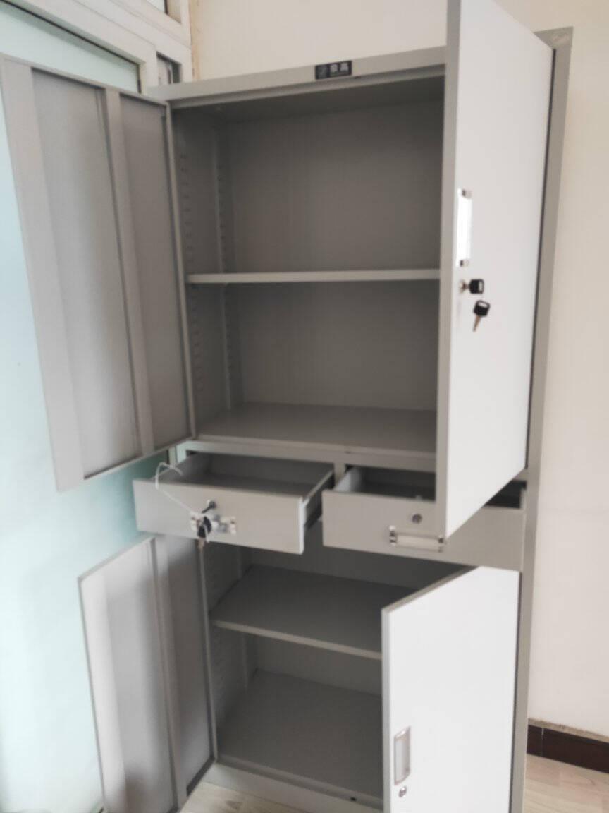 奈高文件柜办公柜钢制铁皮柜资料柜档案柜储物柜通双节文件柜