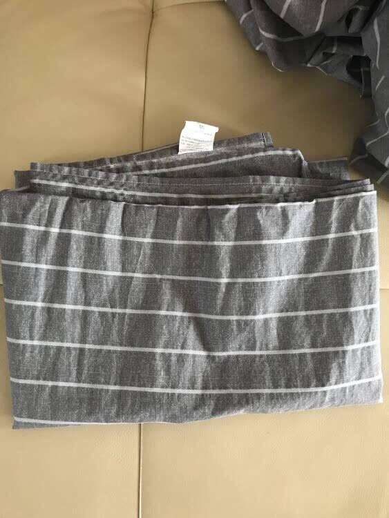 艾薇全棉四件套简约床上用品纯棉单人学生被套150*200cm被罩床单枕套0.9/1.2米床套件方位