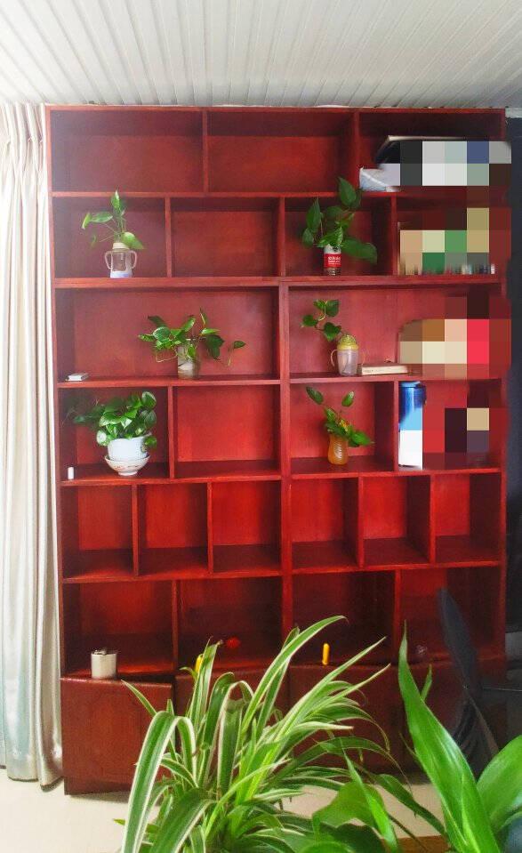 实木书柜书架松木组合书架实木现代简约书柜子桌上小书架层架储物架收纳架120*60