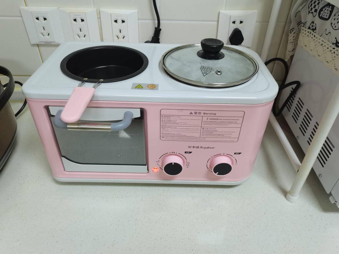 荣事达多功能三合一烤面包机多士炉三文治吐司机家用煮蛋器煎蛋电火锅RS-KG12A