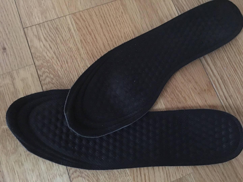 ELEFT汉方清新鞋垫透气吸汗防滑按摩跑步篮球运动鞋垫黑色男款3双装