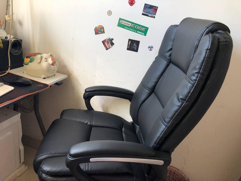 【杨澜推荐】得力(deli)4913电脑椅家用办公椅转椅人体工学皮椅子时尚升降座椅老板椅