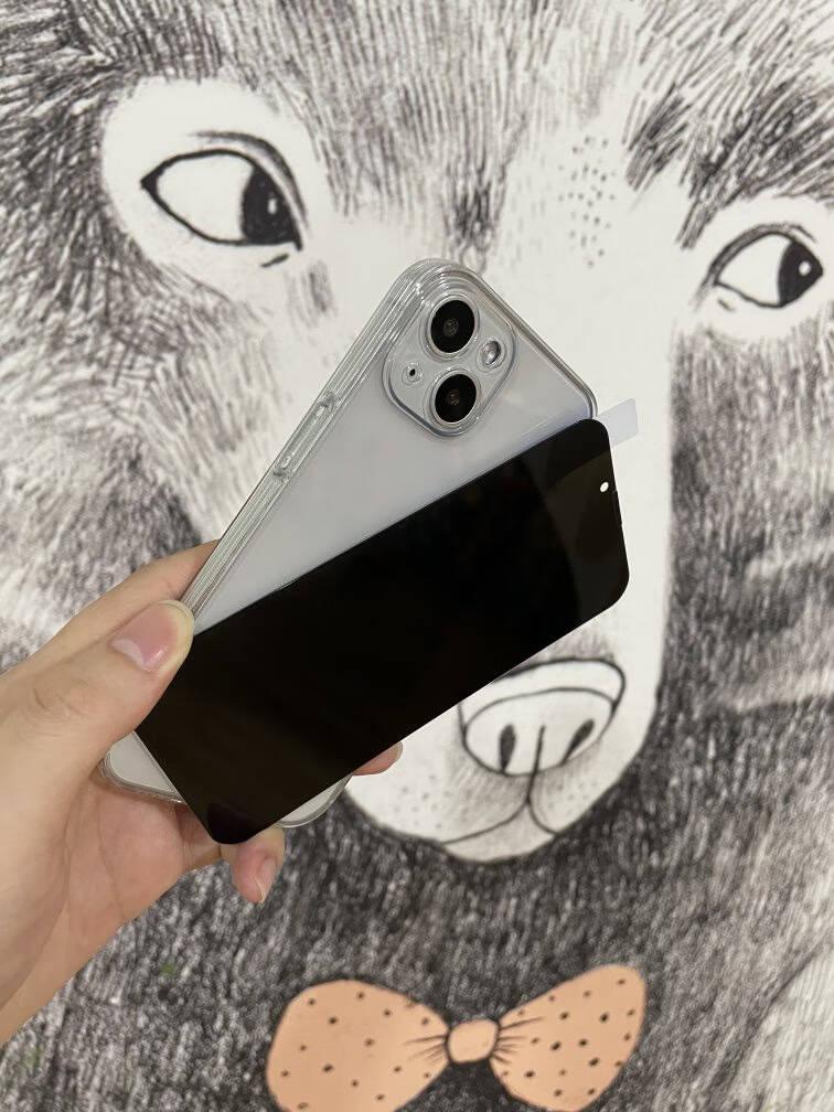 【真机定制】图拉斯苹果13钢化膜iphone13pro手机防窥膜全屏高清防偷看保护贴膜听筒防尘网【28°防窥】钻石防爆+顺滑手感+4K高清