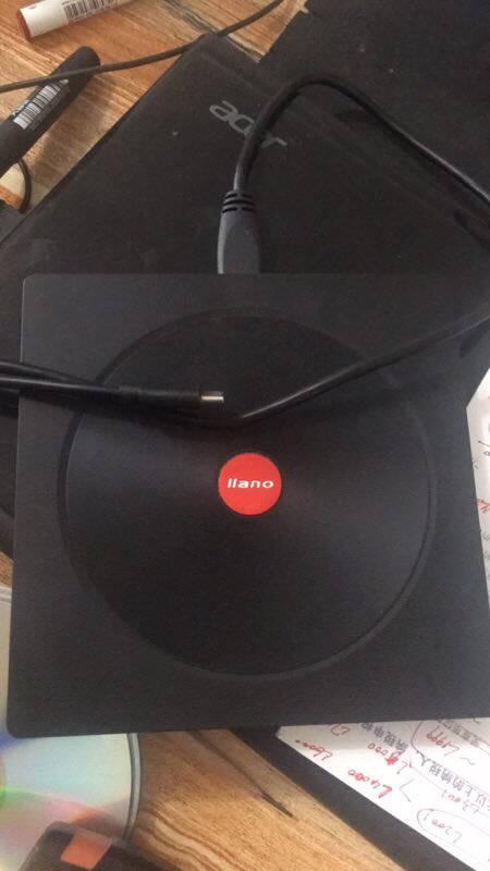 绿巨能(llano)外置光驱USB-C移动光驱台式笔记本电脑刻录机CD/DVD通用8CD24倍速高速刻录机
