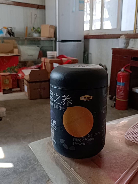 五谷磨房黑之养大黑罐核桃芝麻黑豆粉黑藜麦代餐粉黑芝麻糊代餐早餐谷物600g*3罐黑豆粉3罐