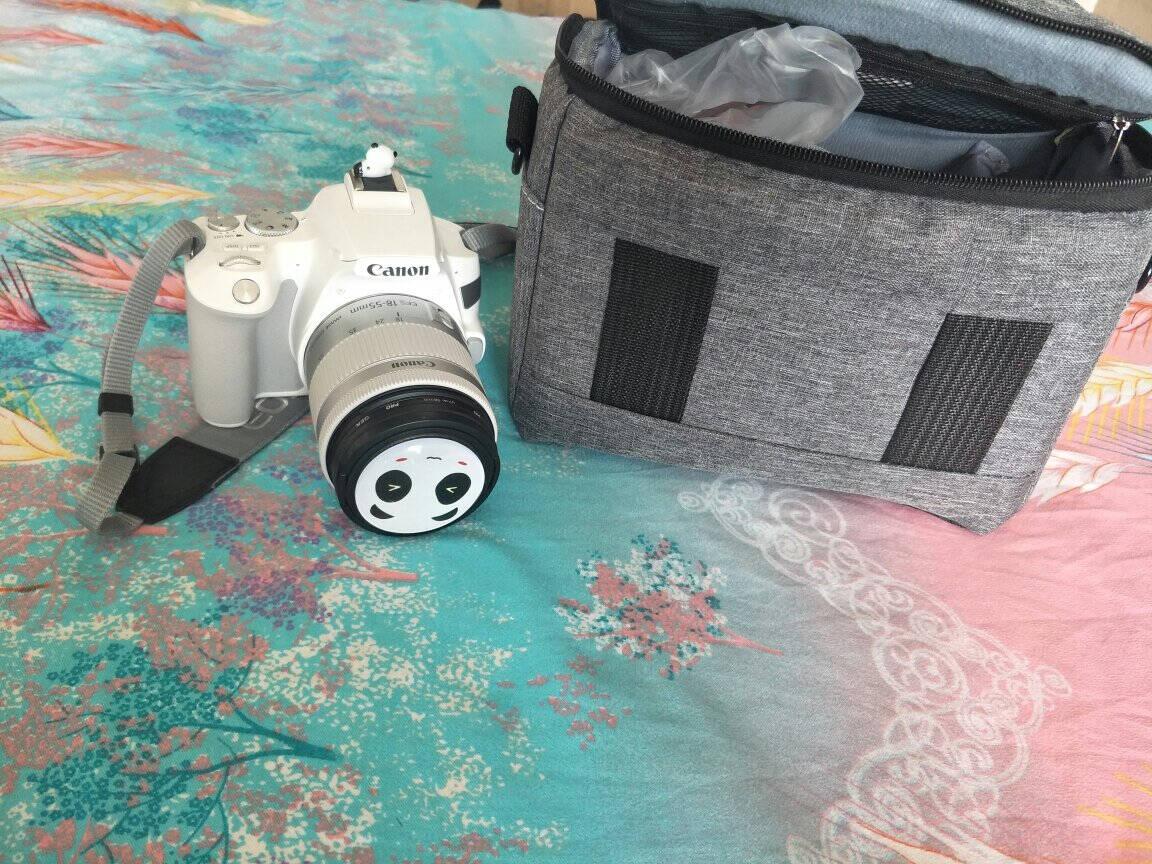 【佳能专卖店】佳能(Canon)EOS200D2/II二代单反相机入门vlog视频迷你单反18-55mmSTM白色16G定制礼包.