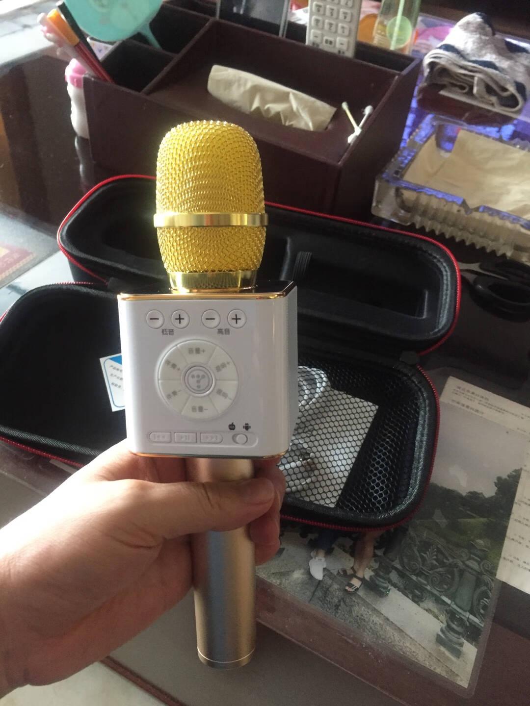 途讯04全民K歌定制版手机K歌麦克风神器蓝牙无线音响话筒一体麦克风唱吧喇叭主播直播高冷黑
