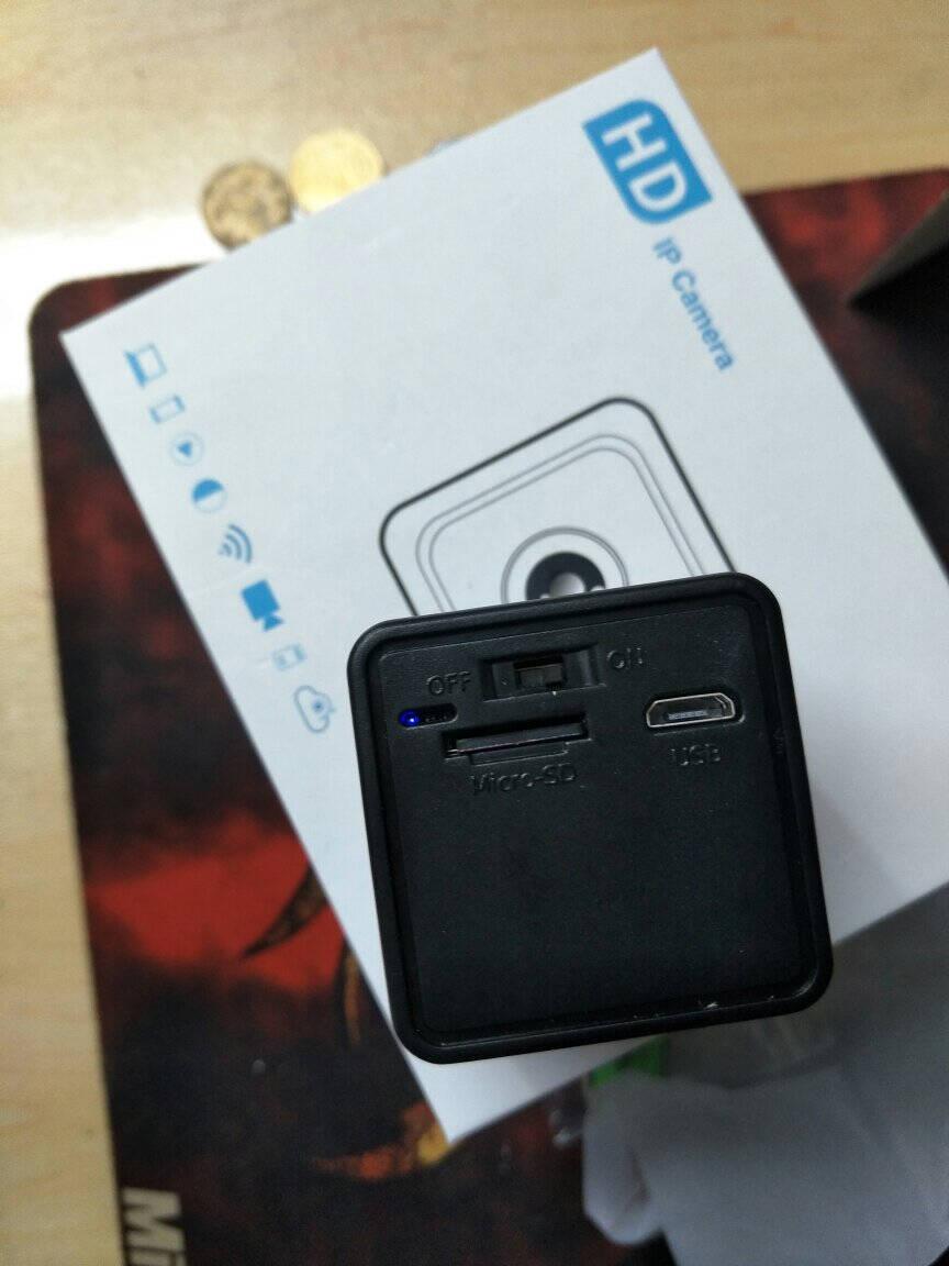 无线wifi微型袖珍监控摄像头隐藏家用迷你超小型摄像机室内高清监控器家用可连接手机远程200万无光夜视版【活动特惠送128G卡】