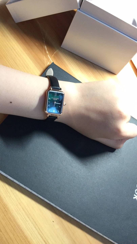 LolaRose小绿表手表女英国时尚防水石英女士手表方形小绿表LR2136-小绿表