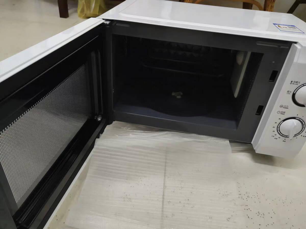 美的(Midea)家用微波炉机械式微蒸一体机360°转盘式加热21升M1-L213B