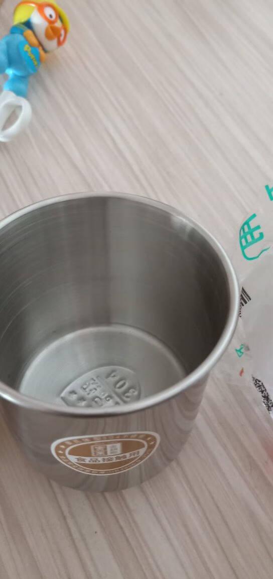 金钥匙(GOLDENKEY)304不锈钢儿童水杯幼儿园口杯防摔带手柄茶杯(儿童款无盖)GK-KB70
