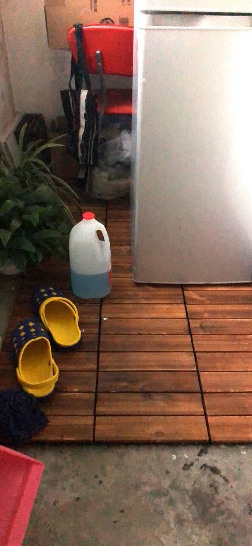 阳台地板露台碳化木实木户外地板拼花拼接DIY庭院浴室防腐木地板