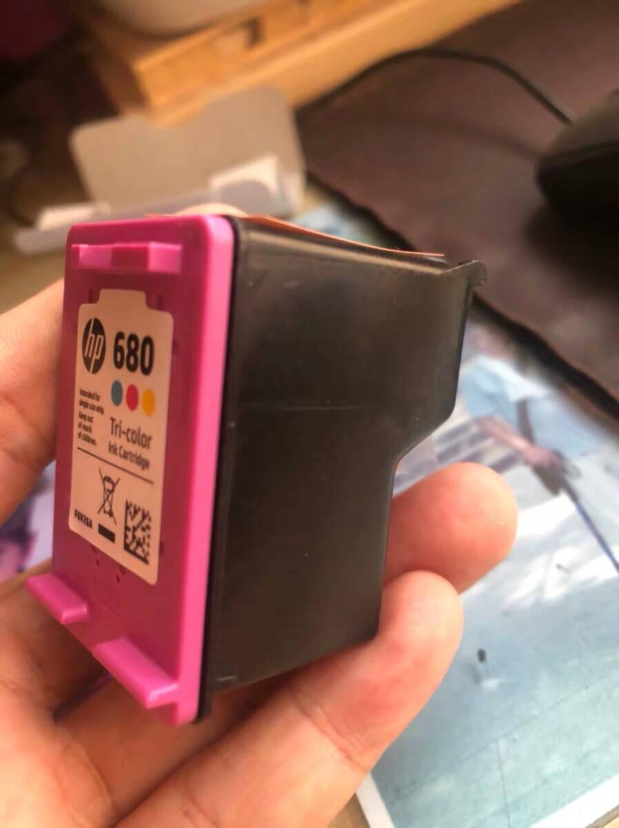 惠普(hp)680墨盒原装适用2138/4678/3636/3838/4538/3638打印机黑色彩色双支套装(黑480页+彩150页)