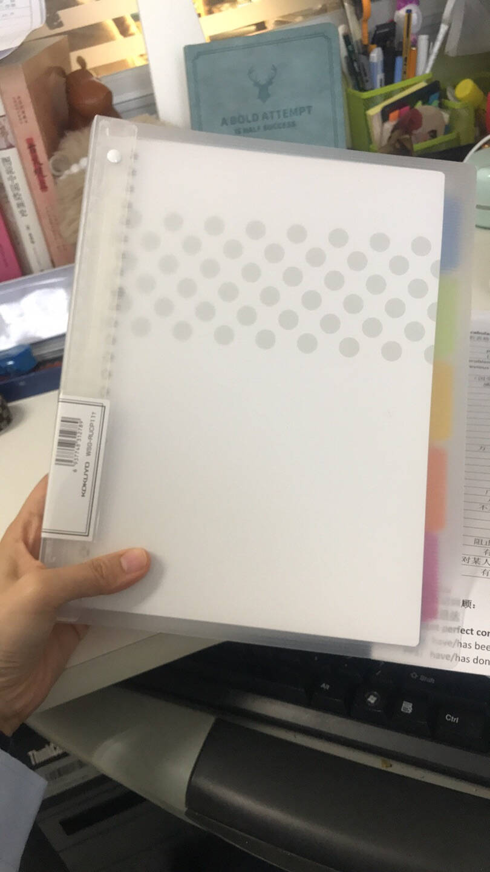 国誉(KOKUYO)淡彩曲奇20孔活页本笔记本记事本子活页夹日记本5色索引分隔页A5/40页透明WSG-RUCP12T