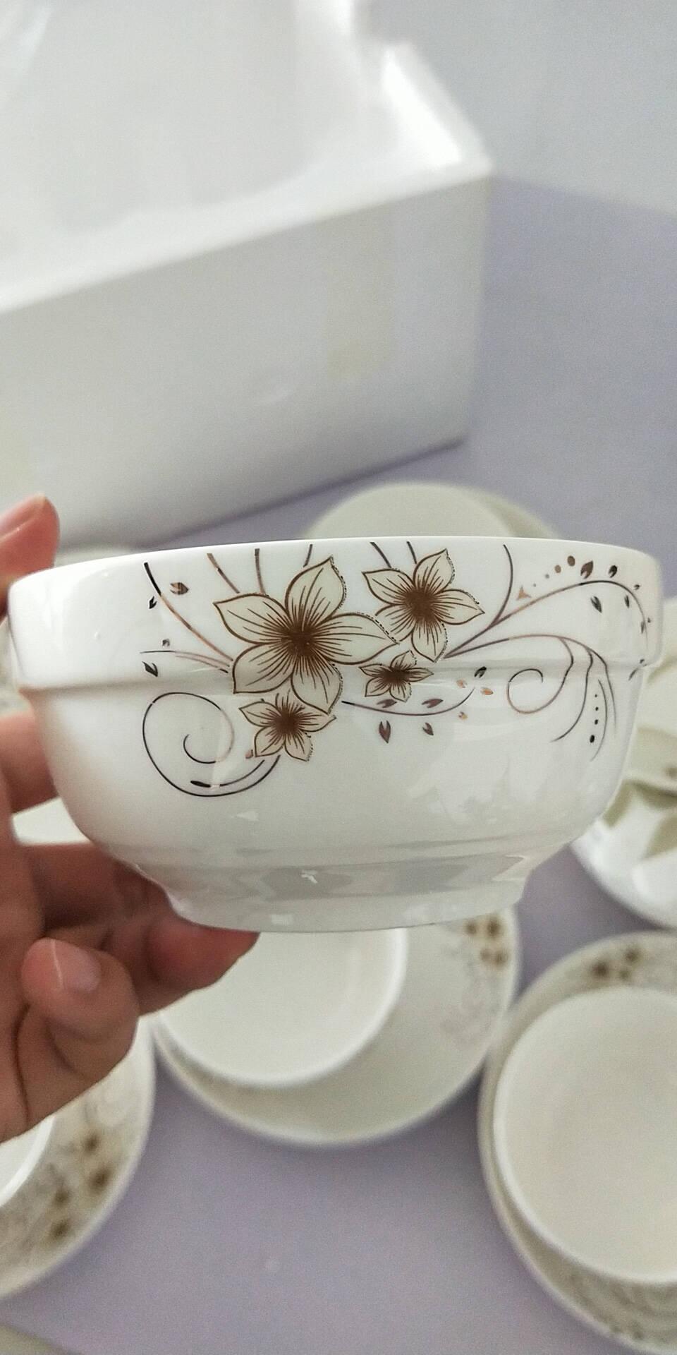 瓷魂餐具套装陶瓷碗碟套装20头简约盘子碗具手提彩盒家用中式礼盒包装公司采购送礼年华